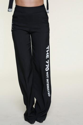 מכנסיים שחורים בגזרה מתרחבת INTERESTED