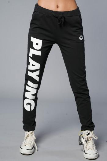 מכנסי ג'וגר שחורים PLAYING