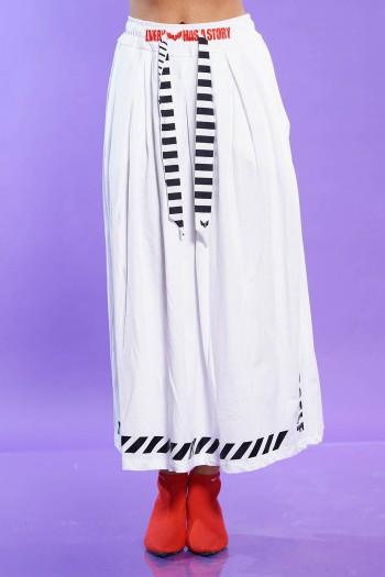 חצאית כותנה לבנה YOUR SELF