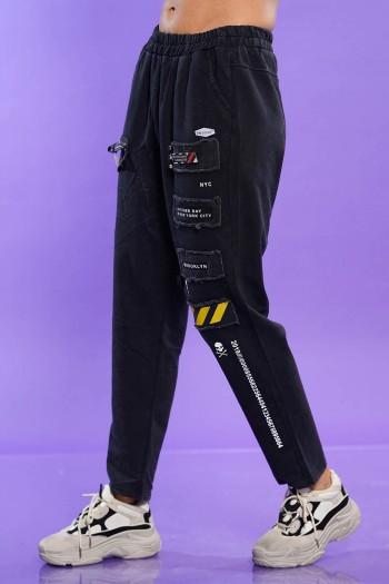 מכנסי פוטר שחורים BROOKLYN