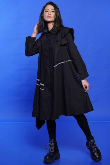 שמלה שחורה כתף מלמלה MISTAKES
