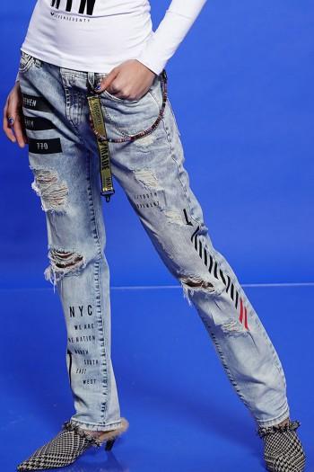 מכנסי ג'ינס קרעים SEVEN