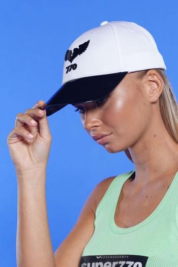 כובע לבן שחור  770
