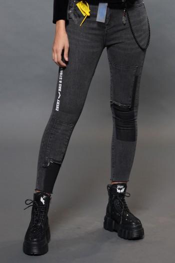 ג'ינס שחור שטוף WASH