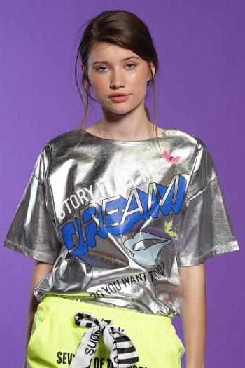 חולצת T כסופה DREAM