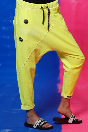 מכנסי פוטר צהוב נאון STORY