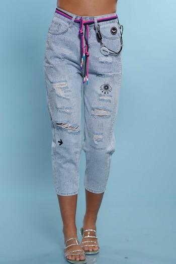 מכנסי ג'ינס אבנים EYE