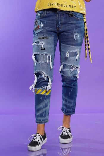 מכנסי ג'ינס קרעים BROOKLYN