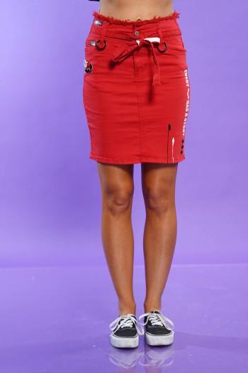 חצאית מיני אדומה STORY