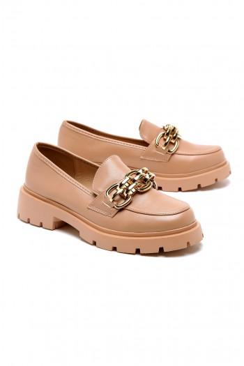 נעליים בגוון ורוד עדין בשילוב שרשרת STYLE