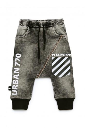 מכנסי שקי ג'ינס אפורים URBAN