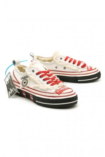 נעלי סניקרס בגזרה נמוכה אדום-לבן STAR