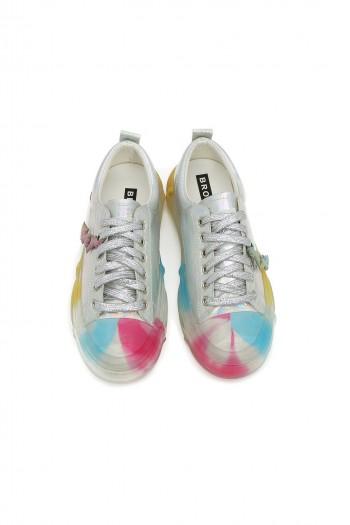 נעלי סניקרס בגוונים כסופים RAINBOW