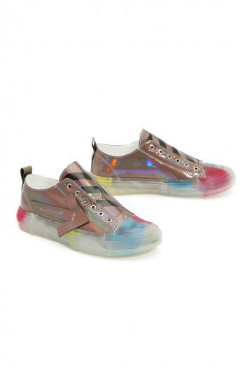 נעלי סניקרס בגוונים מתכתיים ARROW