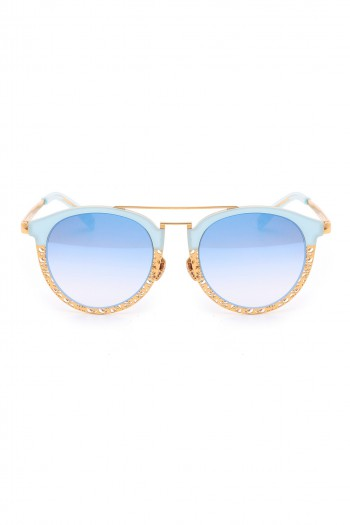 משקפי שמש בגווני כחול וזהב  SHINE