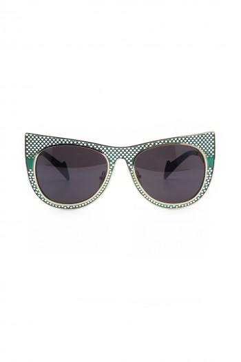 משקפי שמש עם מסגרת בגווני ירוק וזהוב MOVIE