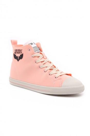 נעלי סניקרס גבוהות ורודות STREET
