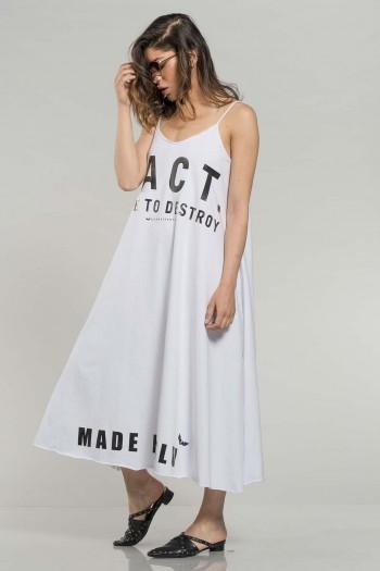 שמלת גופייה לבנה FACT