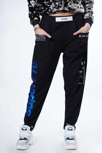 מכנסים מעוצבים שחורים NYC