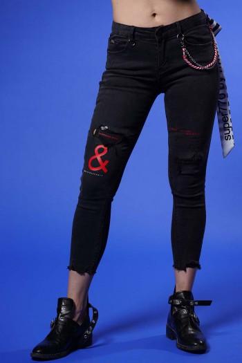 מכנסי ג'ינס שחורים AND