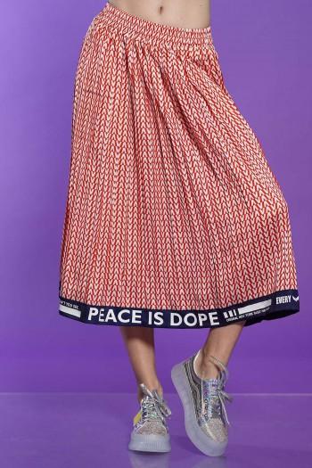 חצאית אקורדיון גאומטרית  DOPE