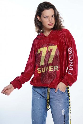 חולצת קרפ בורדו SUPER