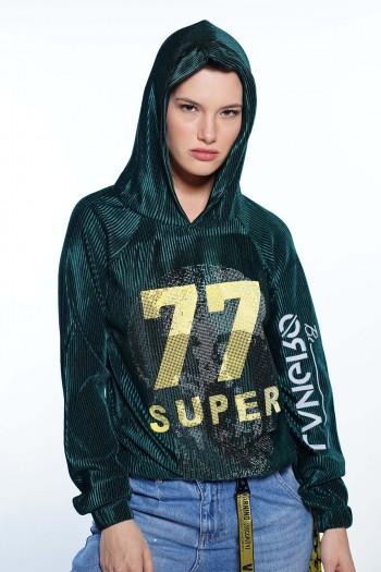 חולצת קרפ ירוקה SUPER