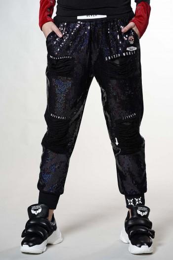 מכנסי פוטר בשילוב פייטים מעוצבים UNITED