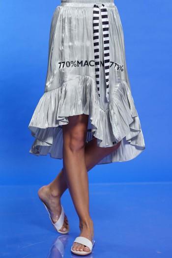 חצאית מבריקה אפורה כסופה SEVENSEVENTY