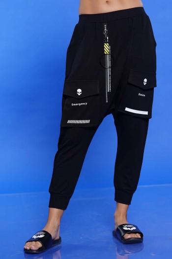 מכנסי שקי שחורים DELETE