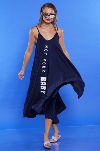 שמלה מתרחבת כחול כהה BABY