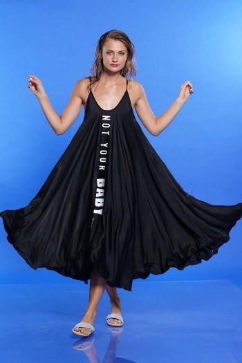 שמלה מתרחבת שחורה BABY