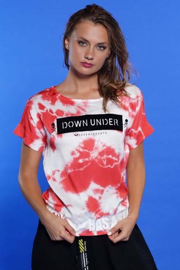 חולצה שטופה אדום DOWN UNDER