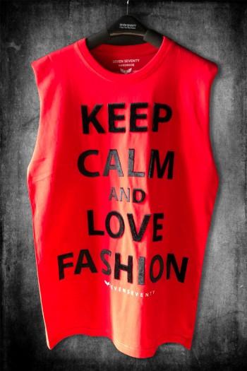 חולצה אדומה ללא שרוול KEEP CALM