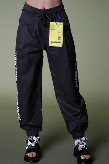 מכנסיים מעוצבים שחורים GO SEVEN