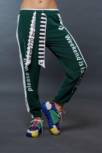 מכנסי ג'וגר בגוון ירוק WEEKEND
