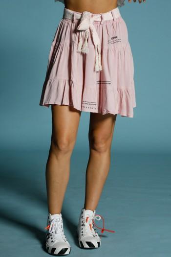 חצאית ורודה מעוצבת HAND MADE