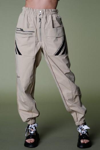 """מכנסיים מעוצבים בגזרת דגמ""""ח בגוון חאקי ATTITUDE"""