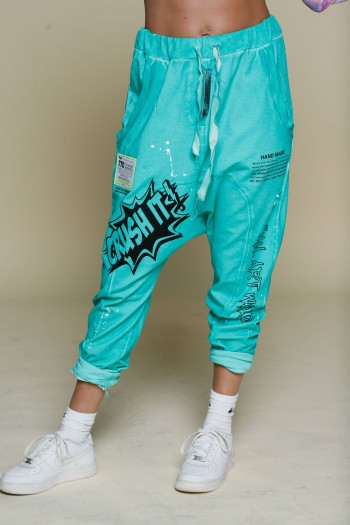 מכנסי שקי פוטר בגוון כחול טורקיז CRUSH