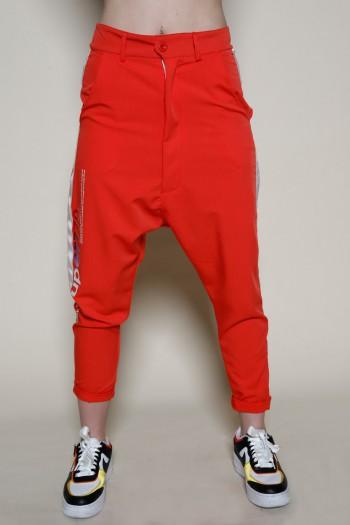 מכנסי שקי בגוון אדום כתום  ADDICTED