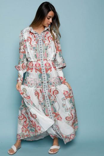שמלת מקסי בוהו צבעונית FIND