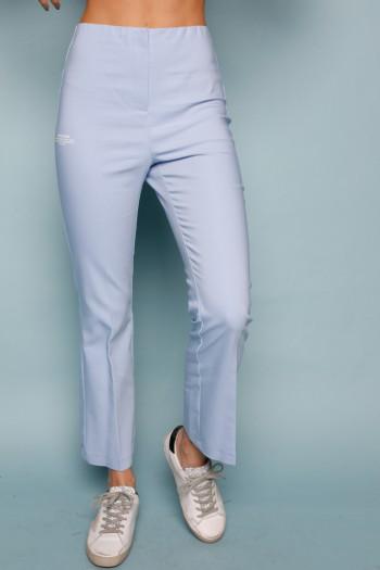 מכנסים מחויטים בגזרת פדלפון בגוון תכלת LIMITED