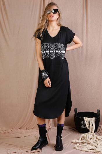 שמלת מידי שחורה DELETE