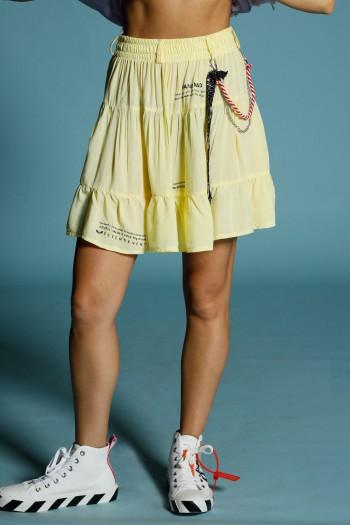 חצאית צהובה מעוצבת HAND MADE