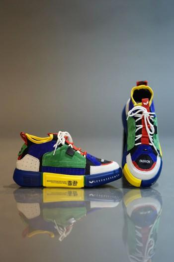 נעלי סניקרס גבוהות מולטיקולור COLOR