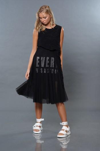 שמלה שחורה בשילוב טול STORY