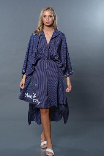 שמלת קימונו כחולה ROCK PARTY